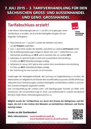 Info 3. Verhandlung - Tarifabschluss!