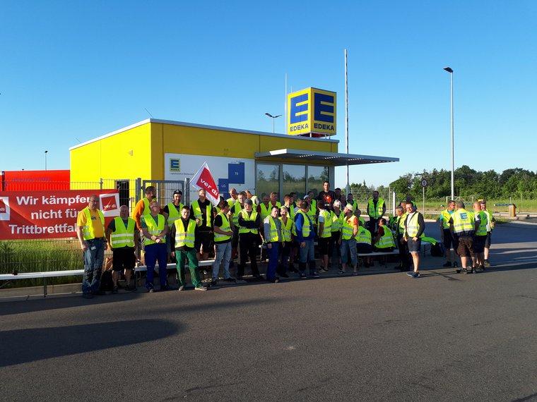 Streik bei der Edeka in Berbersdorf am 3. Juni 2019