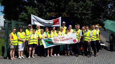 Streik bei der Metro in Dresden am 14. Juni 2019