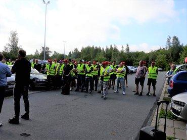 Streik beim Rewe-Lager in Nossen am 27. Juni 2019
